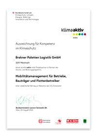 Auszeichnung für Kompetenz im Klimaschutz